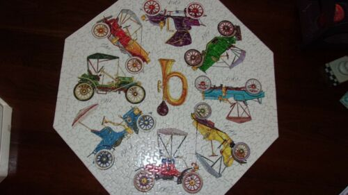 "Vintage Springbok 500 Piece Jigsaw Puzzle ""Run-A-Bouts"" Okta 1968"