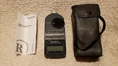 Radio Shack Digital Sound Level Meter 33-2055 With Manual