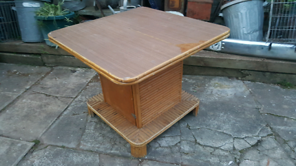 Bamboo/ cane square table. **price reduced**
