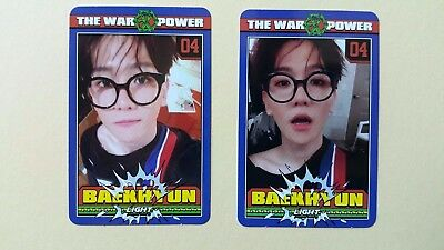 EXO The War The Power Of Music 4th Repackage Official photocard - Baekhyun set