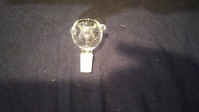 1 Scientific Lab Glass Round Stopper Bowl 14mm Fast Fast Shipping Great Low