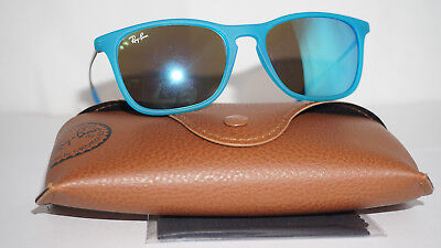 RAY BAN JR JUNIOR New Sunglasses Blue Silver Blue Mirror RJ9061S 7011/55 49 15