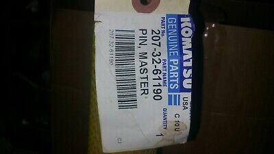 New Komatsu Pin Track Master Part 207-32-61190 Free Shipping