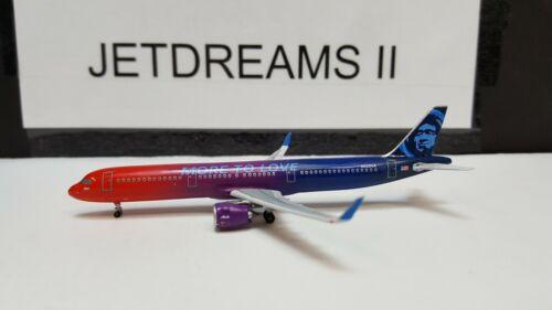 1/400 ALASKA AIRLINES AIRBUS A321-200NEO MORE TO LOVE COLORS N926VA AEROCLASSICS