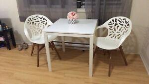 IKEA white table chair set