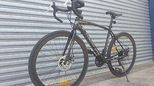 Road Bike Elite Matt Black Shimano Gears Parkville Melbourne City Preview