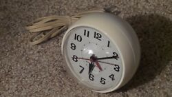 Vintage General Electric Alarm Clock Retro Mid-Century Modern Spheric Design