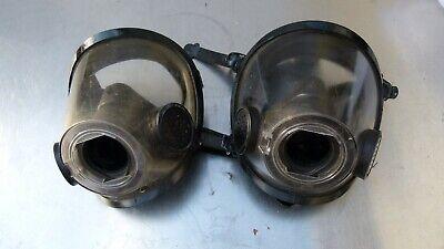 Lot Of 2 - Scott Firefighter Turnout Scba Mask - 10011307 - Size M Medium