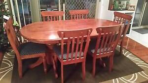 Solid Timber 7 piece dining table. Glenwood Blacktown Area Preview