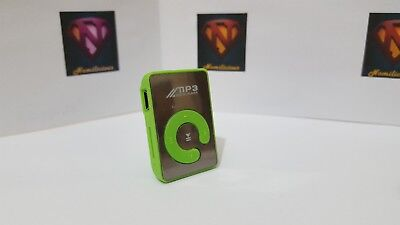 Mini Mirror Style MP3 player & accessories,great sound GREEN- Absolute Bargain