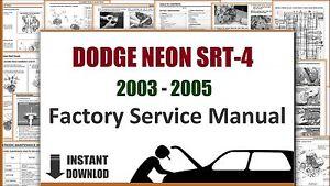 Dodge Neon SRT-4 2003 2005 Service Manual Workshop Manual Repair Manual