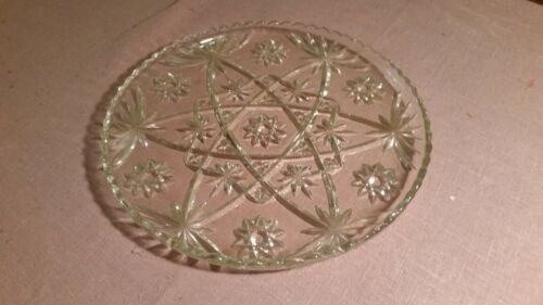 ANTIQUE esTaTe SaLe fourth gEnEraTiON FaMiLly owned ♤ large cut glass cake plate