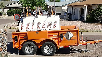 Fuel Transfer System Trailer W Solar Charger Hoses Tank Sealed 2010