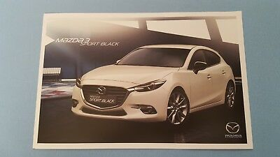 Mazda 3 Sport Black Edition hatchback car brochure catalogue April 2018 MINT