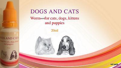 Cat & Dog Intestinal Hygiene Worm Wormer Control * 1ml for 10kg body weight*
