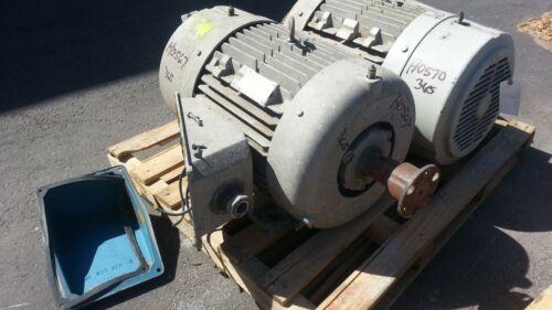 40 HP Siemens Electric Motor, 900 RPM, 364T 365T Frame, TEFC, 460 V, 1.15 S.F.