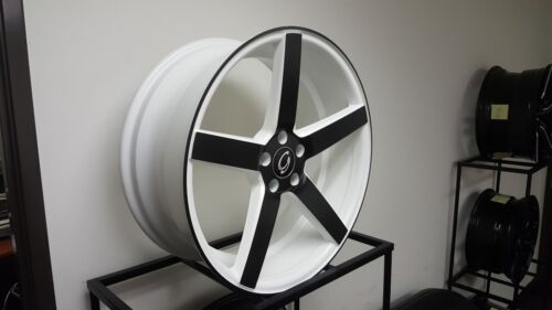 20 X 8.5  4 New # 5178 White Black Face Diamond Edition Wheels Rims 5 X 115 New