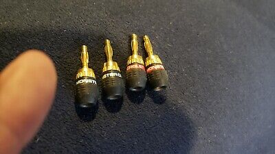 Monster Cable Quick Lock Banana Speaker Wire Connectors - Tool Free - 2 Pair Monster Cable Quicklock