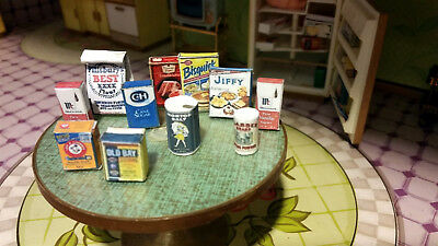Kitchen Baking Set Spices & Ingredients Food 10pc Dollhouse 1:12 Miniature Food