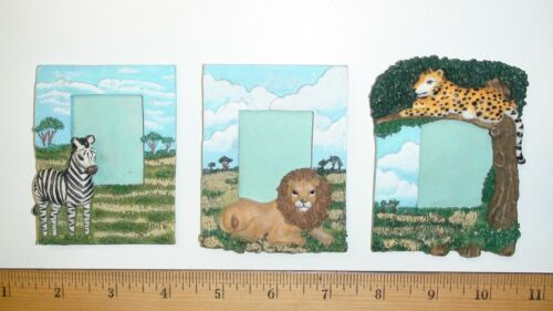 African Animals - Baby Photo Picture Frames - Cheetah Lion Zebra - Baby Room