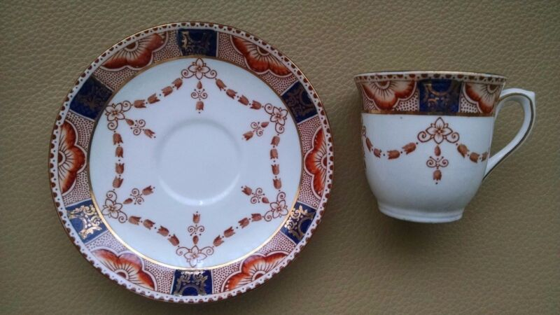 COLCLOUGH 4995 Imari Style Bone China Demitasse Cup and Saucer(s) - England