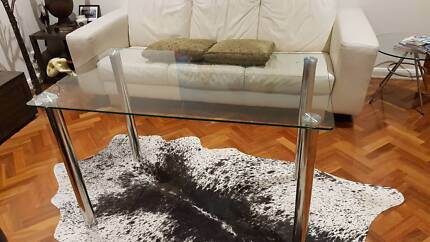 4  Seater Glass Top Dining Table