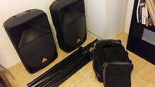 Behringer B115D & B115MP3 speakers with stands & cables Lathlain Victoria Park Area Preview
