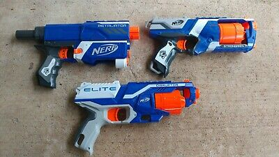 Nerf Dart Guns Retaliator Strongarm Disruptor lot of 3 - Working Tested