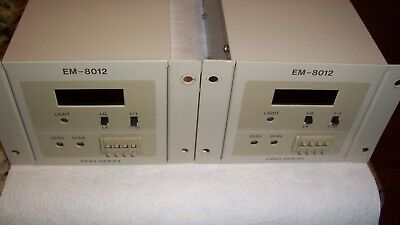Ono Sokki Em-8012 Light Control 2 Units Lot Price.