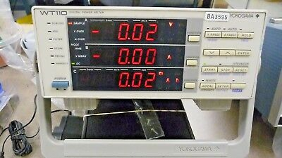Wt110 Digital Power Meter Yokogawa 253401-c1-0-d W Copy Manual Guarantee