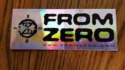 "From Zero Concert Music Sticker 2"" X 5"" Bumper Window Case Skateboard Rare PUNK"