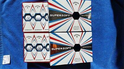 2 Brand New Boxes of Pink Callaway SuperSoft Golf Balls](Golf Balls Pink)
