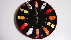 Authentic Sushi Clock handmade by Japanese craftsman REDUCED PRICE!!