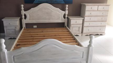 Coastal Q Bed, Tall boy, 2xBedsides