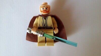 Lego Star Wars Minifigur Qui-Gon Jinn mit Laserschwert (sehr seltene Version) comprar usado  Enviando para Brazil