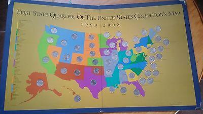 1999 2008 100 Coin 50 State Quarter Complete Set  Dansco Albums