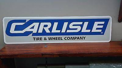 """CARLISLE Tire & Wheel Aluminum Sign 6"""" x 24"""""""