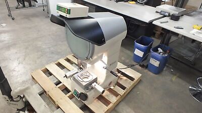 Nikon V-12a Optical Comparator 12 Frosted Glass 20x100x Lenses A4-b Stage