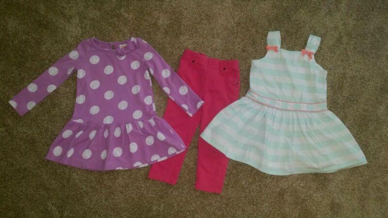 Lot 3T girls toddler 5 dresses 1 leggings Gymboree Garanimals