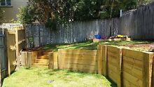 TIMBER RETAINING WALLS TIMBER/POOL FENCING Cannon Hill Brisbane South East Preview