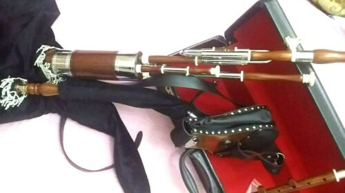 SPECIAL DISCOUNT OFFER NEW UILLEANN Pipe Half Set ROSE WOOD With Free Hard Box