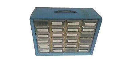 Vintage Akro-mils 24 Drawer Metal Storage Cabinet W 12 Adjustable Dividers