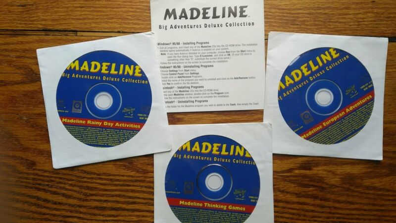 Adventure Workshop 1st-3rd 2005 & Madeline Collection cd-rom Homeschool