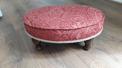 Footstool. Lovely William Morris 'Indian' oval Footstool.