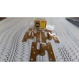 """3 NEW STANLEY BB93 Knuckle Hinges RH  Solid Bronze US10 ,5"""" X 4 1/2  Heavy"""