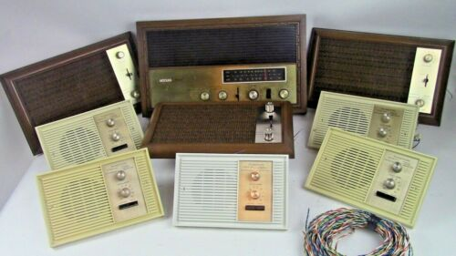 Vintage Artolier Musicom By Rittenhouse Intercom System. 9 Piece Model M7000,