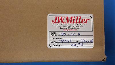 2 Pcs 1130-221k Jw Miller Rf Fixed Inductors 220uh 10 Obsolete