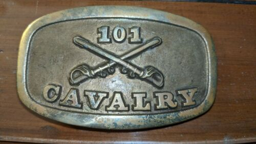 101st Cavalry Solid Brass Belt Buckle New York Army National Guard 42nd Division