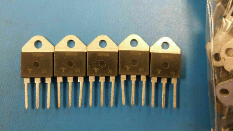 (5 PCS) S8055M TECCOR Thyristor SCR 800V 55A 3-Pin(3+Tab) TO-218