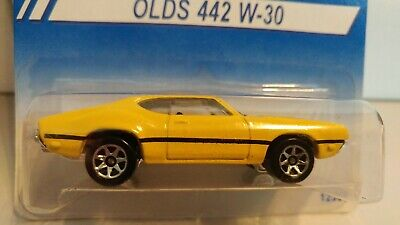 "HOT WHEELS ""OLDS 442 W-30"" RARE INTERNATIONAL CARD 1991 MINT ON MINT CARD"